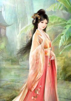 〔 古风美人 〕作者' 猫叔彼得潘 ° Japanese Quilt Patterns, Japanese Quilts, Japanese Art, Beautiful Chinese Women, Creative Pictures, China Painting, Fantasy Character Design, Fantasy Girl, Ancient Art