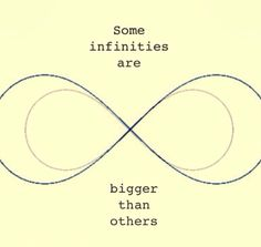 Some infinities are bigger than others.