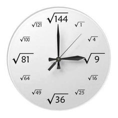 Clock This is What life can be like,trying to put it all together. Contributors and Researchers,lets get to removing barriers. Entry on Our Official Site Math Clock, Math Quotes, Math Formulas, Square Roots, Love Math, Wall Clock Design, Math Humor, Diy Clock, Wood Clocks
