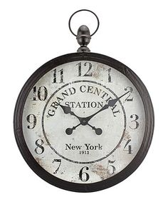 Love this Grand Central Station Wall Clock by Stonebriar Collection  on #zulily! #zulilyfinds