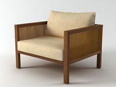 Etel Interiores Cosme Velho Armchair 3d model   Claudia Moreira Salles