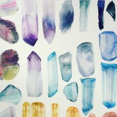 Watercolor gems. …