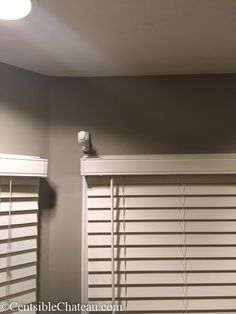 Bay windows can be expensive and difficult to decorate. Learn how to easily make this simple, gorgeous bay window curtain rod without spending a fortune. Bay Window Curtain Rod, Curtain Poles, Window Styles, Window Design, Drapes Curtains, Country Decor, Living Room Designs, Blinds, Simple