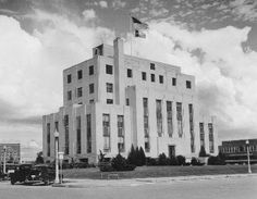 The Montgomery County Courthouse as it looked in 1939! It's still in Downtown Conroe, just surrounded by additions and other buildings.