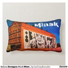 Belarus Беларусь Minsk Минск Architecture Graffiti Lumbar Pillow