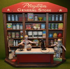 """""""Playtown General Store"""", circa 1940 / A Home for Dolly: antique toys"""