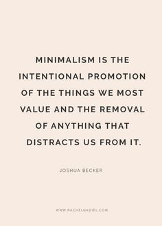 """Minimalism is not d"