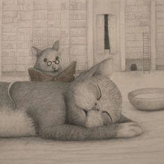 Reading does strange friends / La lectura hace extraños amigos (ilustración de Lisa Andrea)