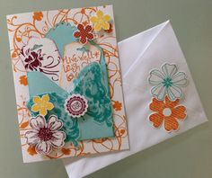Inspired by Jane Goldman. Card and matching envelope.