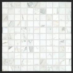 Bianco Carrara marble 1x1 Honed Marble Square Mosaic Tile http://allmarbletiles.com #allmarbletiles