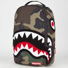 SPRAYGROUND Chenille Woodland Shark Backpack #camo #shark