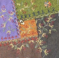 The stitchers of the Wool Do your Block Round Robin were: Karrin H, Cathy K, Leslie E, Hideko I, Simona (who later had to drop out for pers...