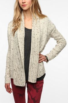 Staring at Stars Fleck Stitch Cardigan Online Only New Colors Available