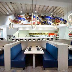 The incredible Miku Restaurant in Vancouver. Interior design by @ssdginteriors. Photo by @emaphotographi. #ssdginteriors #interiordesign #interior #interiors #interiorarchitecture #design #restaurant #restaurantdesign #food #foodie #japanese #japaneserestaurant #aburi #sushi #art #graphic #modern #moderndesign #kitchen #vancouver #vancity #yvr #love #beautiful #amazing #yum #eat #food #sake #artwork #lighting by ssdginteriors
