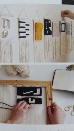 Allyson Rousseau weavings via Canadian House and Home July 2015 issue.