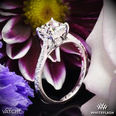 """Vatche """"Inara Pave"""" Diamond Engagement Ring for Princess."""