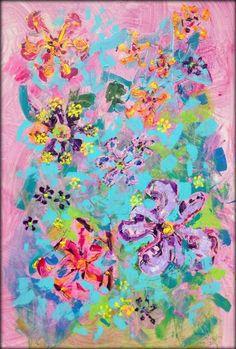 "Saatchi Art Artist Heather W Ernst; Painting, ""Batíflor"" | 24"" x 36"" | Acrylic on Canvas  #abstractexpressionism"