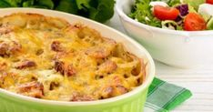 This cheesy casserole is the perfect brunch or breakfast recipe! Low Carb Recipes, Cooking Recipes, Breakfast Casserole Sausage, Go For It, How To Cook Sausage, Healthy Salads, Macaroni And Cheese, Breakfast Recipes, Stuffed Peppers