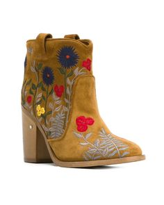 Laurence Dacade | Natural Pete Floral Embroidered Boots | Lyst