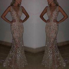 3d95df335b05e9 Sexy Sleeveless Deep V Sequined Dress. AbendkleidSchmuckKleidungMeerjungfrauen  ...