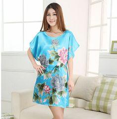 Hot Sale Fashion Lady Summer Robe Chinese Women's Silk Rayon Bath Gown Yukata Nightgown Nuisette Pijama Mujer One Size Xsz029
