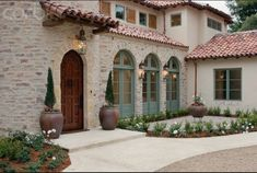 Really like this type of stone and stucco combination!!!!