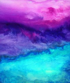 Like the way all of these colors look together and transition together. Again, I can't do the watercolor theme because I have a good photographer friend that is hoping to go that route, but really like this. - The Sound Art Print by Jacqueline Madonado
