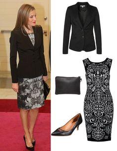 Para vestir como una Reina a la hora de ir a trabajar no hace falta contar con su presupuesto. Hoy, en nuestro estilo de celebrity de hoy, nos inspiramos en la Reina Letizia y te traemos un look impecable de working girl.