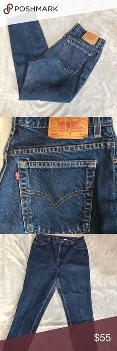 Vintage Levi's tapered leg 550 Preowned great shape vintage Levi's   100%cotton  Levi taper leg relaxed fit 550  Size 16 M Mis Levi's Jeans