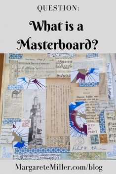 A masterboard is a large collage that you then cut down to specific sizes you want, based on your needs and projects. Here I demonstrate how it works. Paper Collage Art, Collage Art Mixed Media, Collage Sheet, Art Journal Pages, Art Pages, Junk Journal, Art Journals, Altered Books, Altered Art