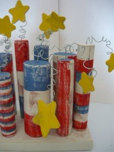 Easy to do with dowels and a bit of wire!  Cute! 4th of july crafts | ... 4th of July crafts in the 4th of July Crafts: Blogger Edition 2010