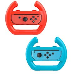 Red & Blue 2 x Race Car Controller Remote dock steering Wheel Accessory Joy-Con For Nintendo Switch Mario Car Racing Games