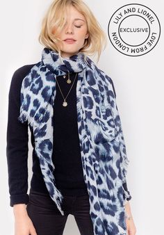 1314a5b32f Kitty Sky Silk Habotai Leopard Print Scarf - Scarves · Lily and Lionel
