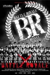 Battle Royale (バトル・ロワイアル) is an uchronian movie directed by Kinji Fukasaku in 2000. Think a more violent hunger games with subtitles - great movie