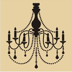 CHANDELIER Stencil / 6 sizes available/ Wall by SuperiorStencils