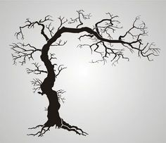 Twisted Tree With Roots Gothic Stencil Design from Stencil Kingdom Stencil Patterns, Tree Patterns, Stencil Designs, Tree Stencil, Stencil Art, Stencils For Painting, Stenciling, Twisted Tree, Wood Burning Patterns