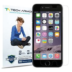 iPhone 6 Plus Screen Protector, Tech Armor Apple iPhone 6 Plus (5.5 inch ONLY) High Defintion (HD) Clear Screen Protectors -- Maximum Clarity and Touchscreen Accuracy [3Pack] Lifetime Warranty Tech Armor http://www.amazon.com/dp/B00NGMVHEW/ref=cm_sw_r_pi_dp_kF.tub1NYR9TE