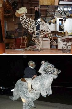 Star Wars aficionado Scott Holden made himself a Tauntaun to wear as a costume at the Exotic Zone ball in Sacramento. Costume Échasses, Stilt Costume, Puppet Costume, Cool Costumes, Cosplay Armor, Cosplay Diy, Halloween Cosplay, Best Cosplay, Star Wars