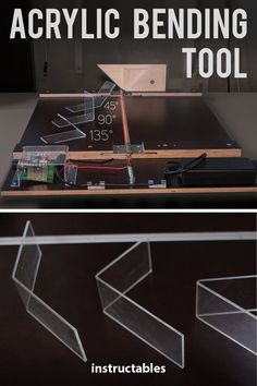 Make a simple, cheap, and very useful acrylic bending tool. This will open up th… Make a simple, cheap, and very useful acrylic bending tool. This will open up the possibilities of what you can do with your acrylic projects. Fun Diy Crafts, Diy Craft Projects, Homemade Tools, Diy Tools, Crafting Tools, Hand Tools, Diy Hanging Shelves, Diy Cnc, Paludarium