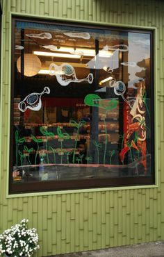 2014/11/4掲載 「かわさきでアート2014」仲見世通りのお店のウィンドウに、アーティストさんたちによって、キットパスでドローイング! https://www.facebook.com/kitpas2005 #kitpas #キットパス
