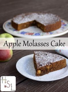 Enjoy the sweet fruits of fall with this bittersweet Apple Molasses Cake that whips up quickly and easily for a simple but also impressive dessert.