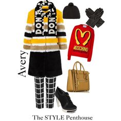 A fashion look from February 2015 featuring Moschino sweaters, AINEA coats and Topshop pants. Browse and shop related looks.