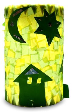 A nice and easy idea to make your own lantern. More ideas for … - Crafts For Christmas Diy With Kids, Diy Crafts For Kids, Arts And Crafts, Paper Crafts, Kids Art Class, Art For Kids, Make Your Own, Make It Yourself, Stars Craft