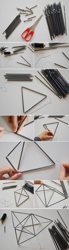 Check out our 15 DIY home deco Cool Diy Projects, Craft Projects, Craft Ideas, Home Crafts, Diy And Crafts, Mobiles Diy, Idee Diy, Do It Yourself Crafts, Geometric Shapes