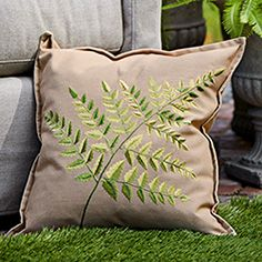 Outdoor Square Single Fern Pillow Arhaus outdoor Pinterest contest