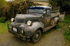 '46 Dodge Pickup. grey and rugged like a fishing crate