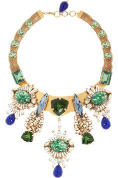 Bijoux Heart Gold-plated multi-stone necklace NET-A-PORTER.COM