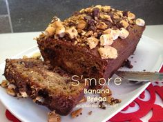 an affair from the heart: S'More Banana Bread - made with Kahlua Caramelized Bananas