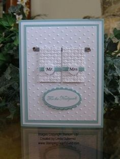 Stampin Up Wedding Card Ideas by katie
