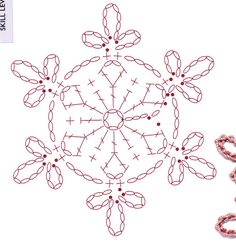 15 crochet snowflakes patterns- free patterns – Turcoaz cu Vanilie - Her Crochet Filet Crochet, Crochet Wool, Crochet Motifs, Crochet Winter, Crochet Diagram, Crochet Stitches, Crochet Patterns, Tunisian Crochet, Crochet Snowflake Pattern